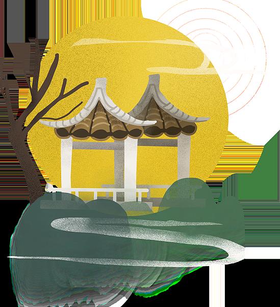 水墨 插画 中国风 插图