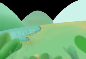 插画 绿色 装饰 底部