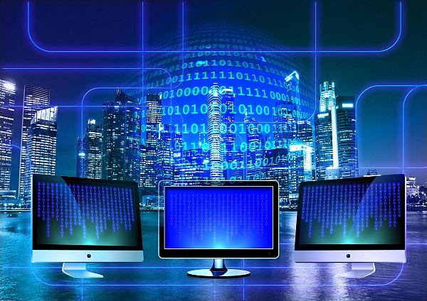 科技 蓝色 计算机