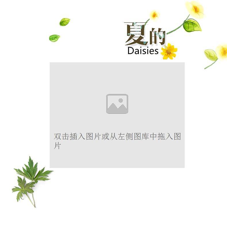 夏的雏菊清新画册