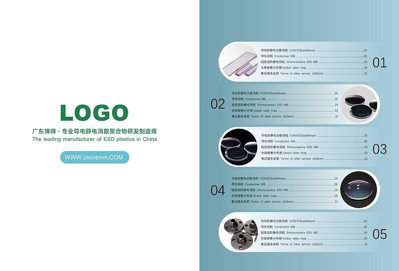 绿色简约企业宣传画册目录