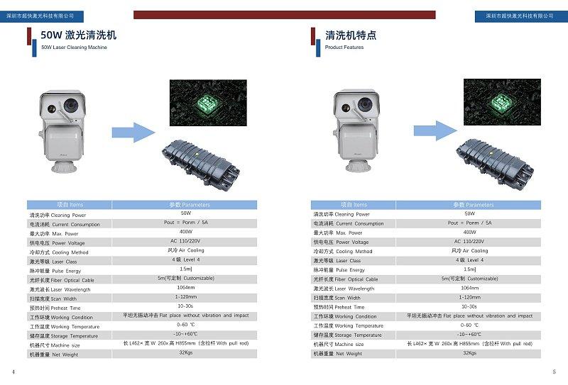 蓝色商务激光科技产品展示