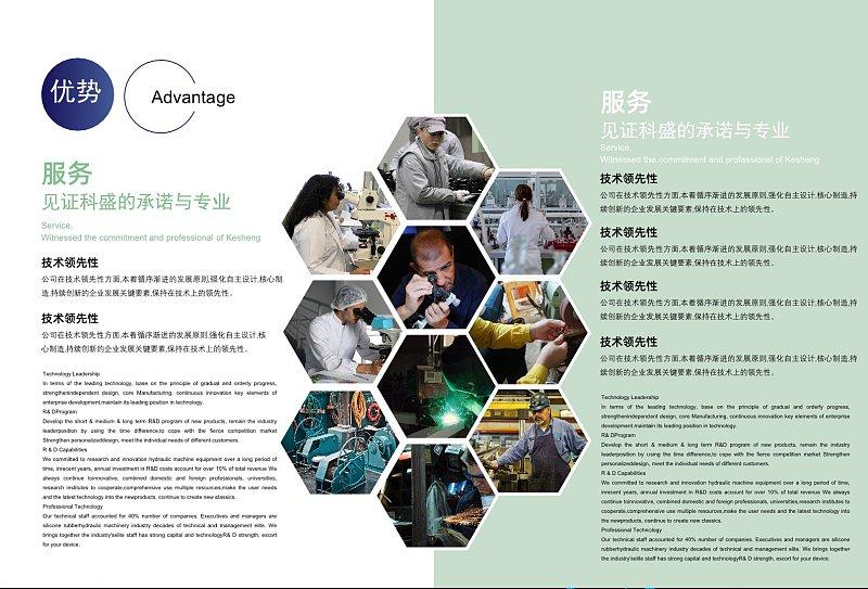 绿色简约企业宣传画册企业优势